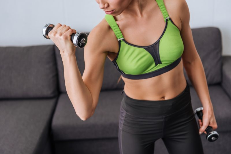 Determine sets and reps for your home workout plan