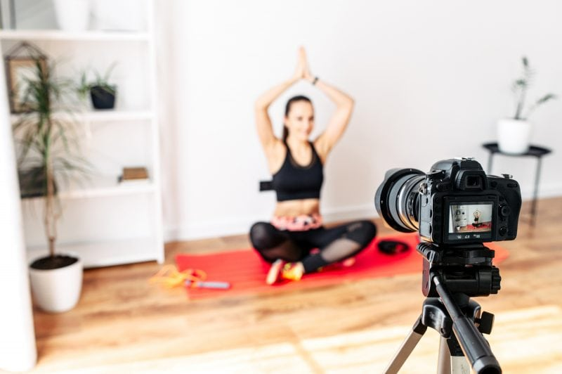 Video record your workouts as part of your home workout plan
